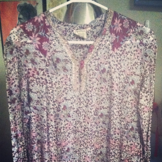 Adini 70's indian cotton ventage dress